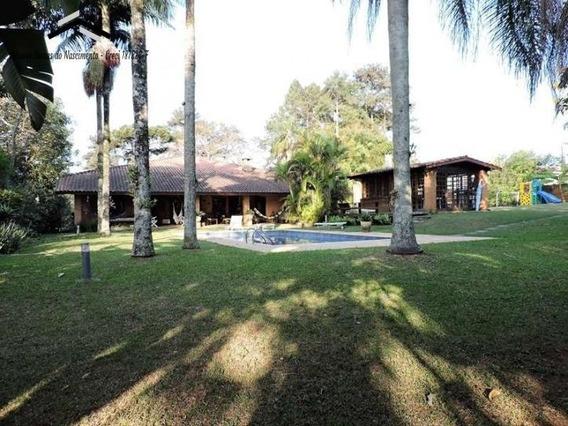 Casa Térrea Em 4 Lotes, 4 Suítes, Lareira, Amplos Jardins,piscina E Gourmet - 25