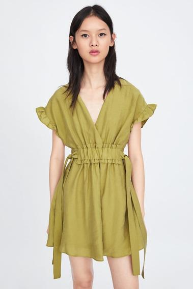 Vestido Cuello Pico Zara