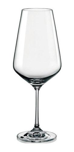 Imagen 1 de 4 de Copón Copa Vino Cristal Bohemia Sandra 550ml Set X 2