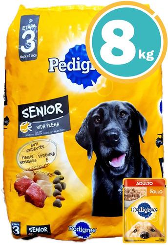Comida Perros Pedigree Adulto Mayores 9kg + Salsa + Envío