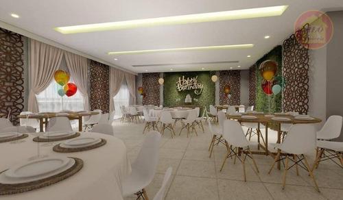 Apartamento À Venda, 46 M² Por R$ 227.000,00 - Caiçara - Praia Grande/sp - Ap5119