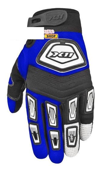 Luva Motociclistica X-11 Expert Riders Azul (m)
