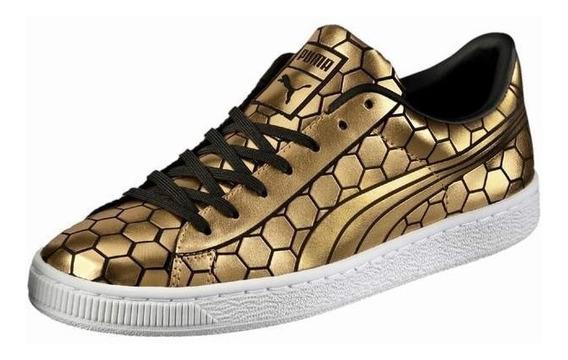 Original Mujer Puma Basquet Classic Sneakers Gold Metal Ltv
