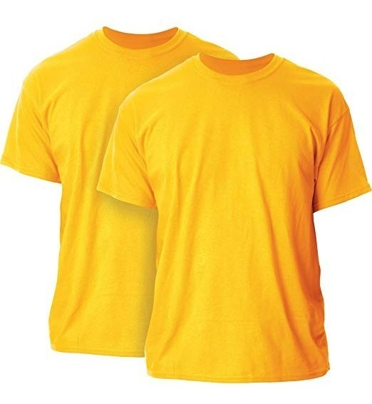 * Camiseta Playera T Shirt 2xl Gildan Hombre Oro (gold)