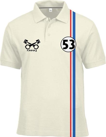 Camisa Polo Fórmula Retrô Fusca Herbie