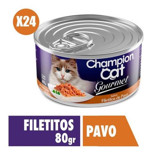 Champion Cat Gourmet Sabor Pavo 24x80g