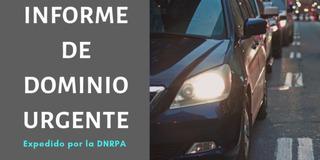 Informe De Dominio Auto O Moto Urgente Online