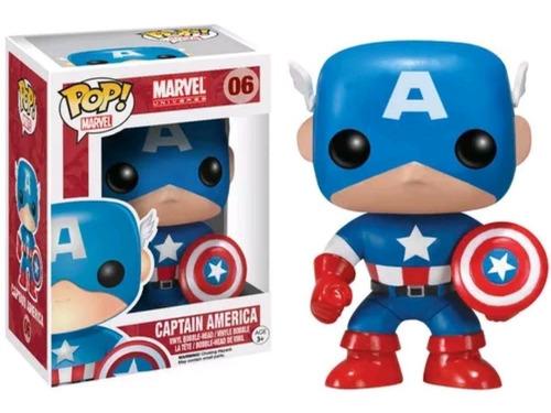 Funko Pop Capitan America 06 Marvel Figura Original Educando