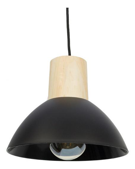 Lampara Colgante Decorativa Pp Opaco Madera 18 Cuotas S/int