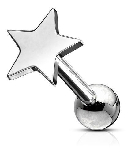 Imagen 1 de 2 de Piercing Individual Estrella 6mm Sin Strass Únicos  Piercing Argentina ®