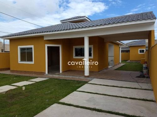 Casa Com 3 Dormitórios À Venda, 130 M² - Jardim Atlântico Central (itaipuaçu) - Maricá/rj - Ca3807