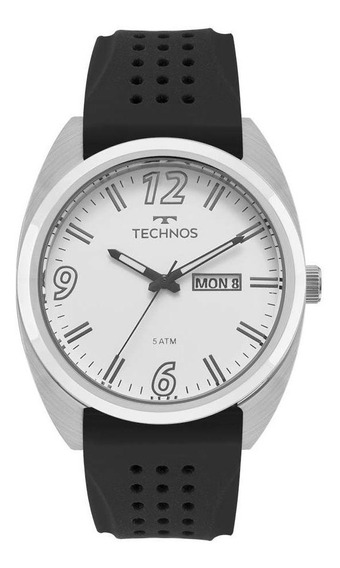 Relógio Technos Masculino Ref: 2305aw/1k Casual Prateado