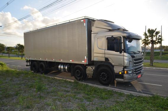 Scania P310 Ano 2015 Baú Frigorífico Gancheira = Vm 330 3030