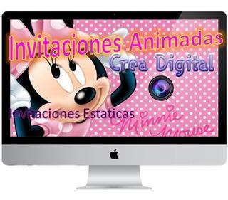 Video Invitación Animada Minnie Personalizada