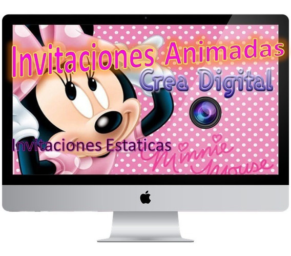 Video Invitación Animada Minnie Personalizada