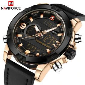 Relógio Militar Masculino Naviforce Analógico E Digital 9097