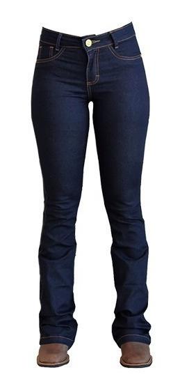 Calça Jeans Feminina King Farm Flare Azul Escuro