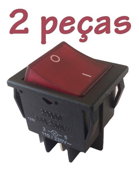 2 Interruptor Tecla Bipolar 15a 29223 C/ Iluminação Margirus