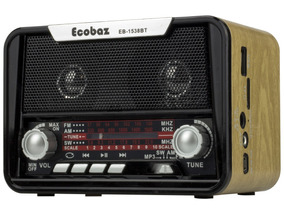 Radio Portatil Am Fm Sw Bluetooth Usb Retro Vintage Pendrive