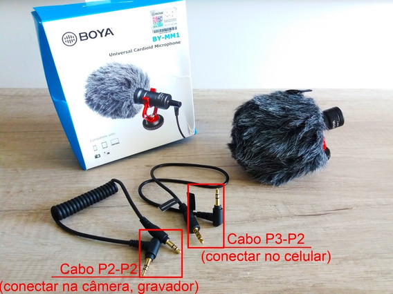 Microfone Direcional Boya By-mm1 Para Sony Canon Smartphone