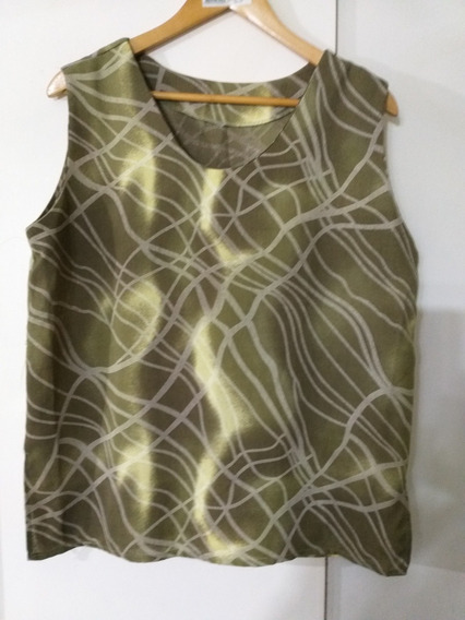 Blusa Mujer Verde Musgo Impecable Lage