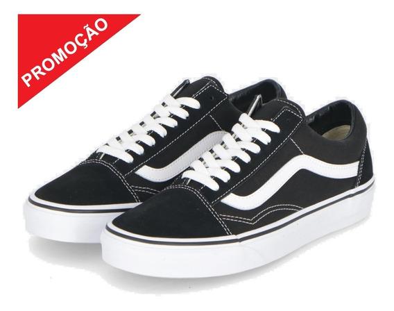 Tênis Vans Old Skool Original Preto Branco Unissex Promoção