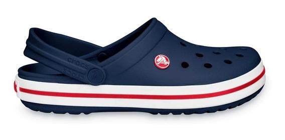 Zapato Crocs Dama Crocband Azul Marino / Rojo