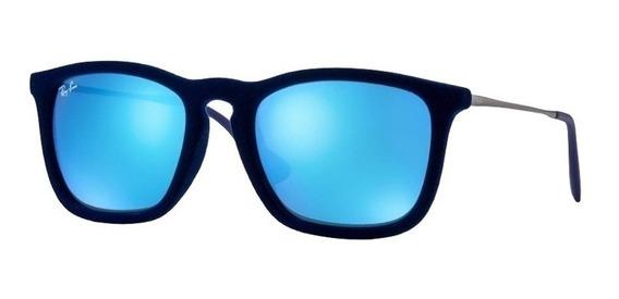 Óculos De Sol Ray Ban Rb4187 Chris 6081/55 5418 Original