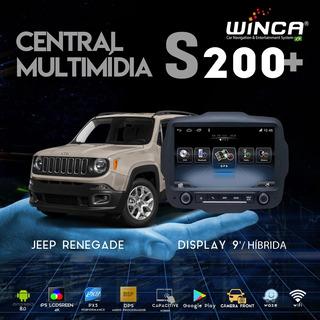 Multimídia Winca S200+ Jeep Renegade 9.0 4k C/cam Frontal