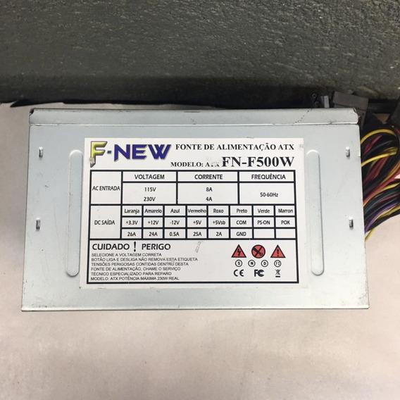 Fonte Nominal F-new Model: Fn-f500w 24pinos 230w Sata