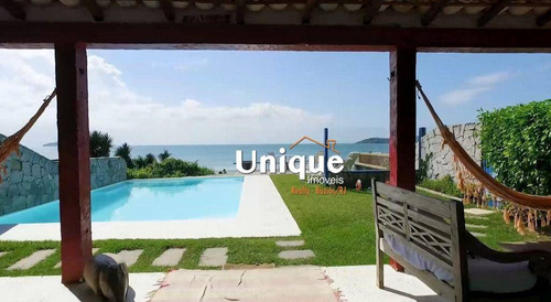 Imagem 1 de 14 de Casa Com 4 Suítes Frontal Mar À Venda, 235 M² Por R$ 2.500.000 - Manguinhos - Armação Dos Búzios/rj - Ca1329