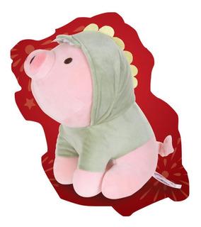 Cerdito Dinosaurio Disfraz Peluche Ultrasuave Miniso Chancho