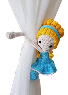 Sujetacortinas Princesas Amigurumi Crochet Manos Creativassf
