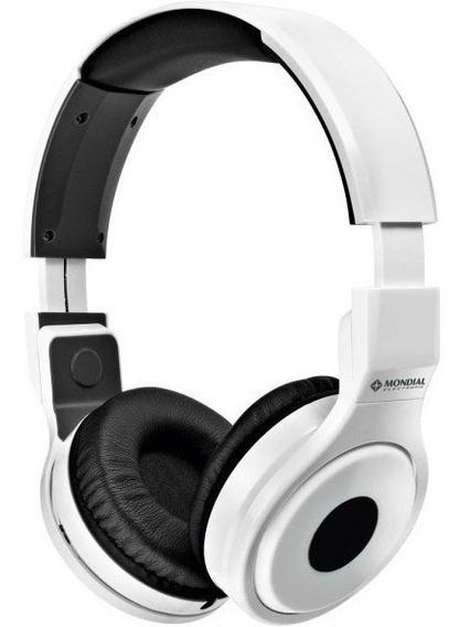 Fone De Ouvido Mondial Headphone Branco Hp-02 Street