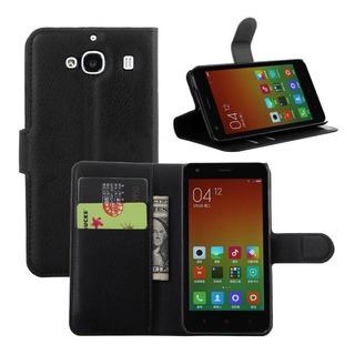 Capa Case Flip Stand Carteira Porta Cartão - Xiaomi Redmi 2