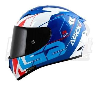 Capacete Ls2 Ff323 Arrow R Evo Techno Azul Branco