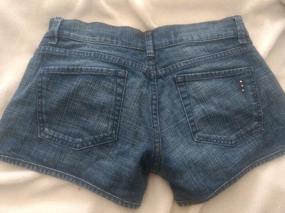 Short Jeans Akiabara Azul Talle M Pantalon Mujer