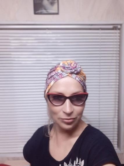 Turbante Nudo Adorno Quimio Cáncer Alopecia Accesorio Moda