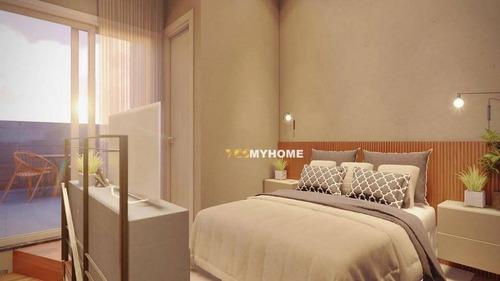 Cobertura Com 1 Dormitório À Venda, 29 M² Por R$ 255.000,00 - Novo Mundo - Curitiba/pr - Co0425
