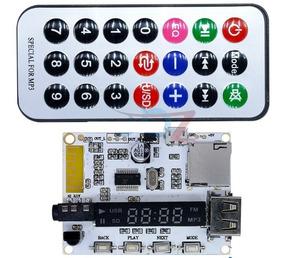 Nova Placa Leitor Usb Mp3 Fm Bluetoothn 5 Volts