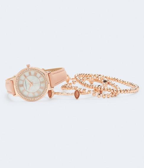 Relógio E Bracelete Aeropostale Original