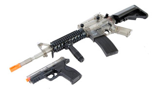 Combo Rifle Electrico Y Pistola Smith & Wesson
