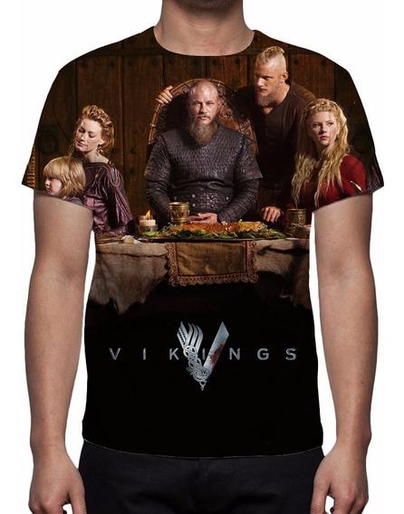 Camisa, Camiseta Série Vikings 4ª Temporada - Estampa Total