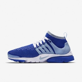 Tênis Masculino Casual Nike Air Presto Ultra Flyknit Azul