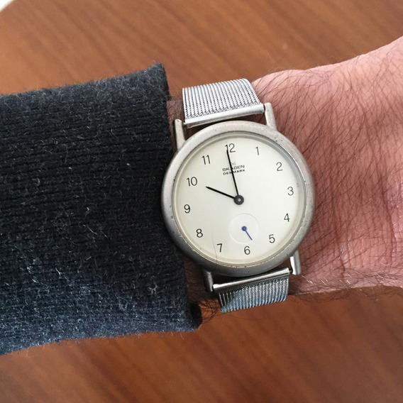Relógio Skagen Design Danmark Elegante E Discreto - Bateria Nova