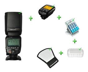 Kit Yn600ex-rt Ii + Rebatedor + Difusor+yn-e3-rt+carregador
