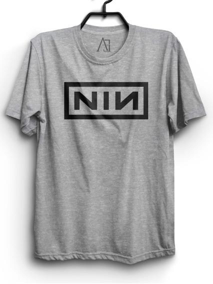 Camiseta Nine Inch Nails Logo Camisa Rock