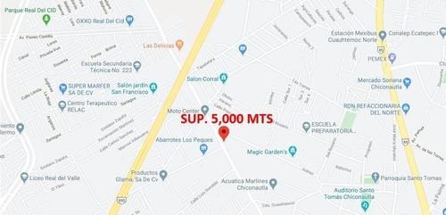 Terreno Av. Ojo De Agua, Ecatepec Sup. 5,000 Mts