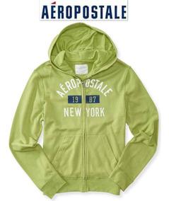 Sudadera Xxl Aeropostale 2xl Hoodie Verde Hombre Mujer Super
