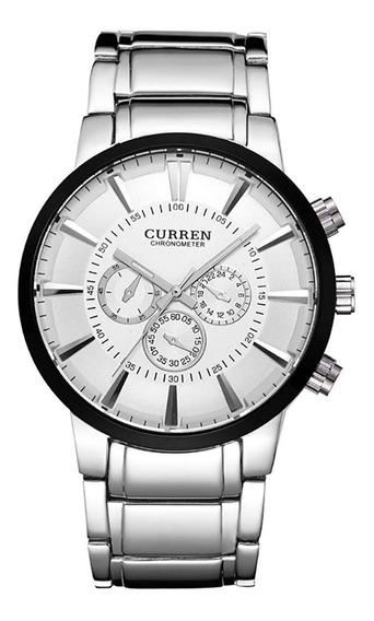 Reloj Moderno Rudo Para Hombre Análogo Curren 8001 Original